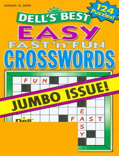 Dell's Best Easy Fast'n Fun Crosswords Magazine Subscription Canada