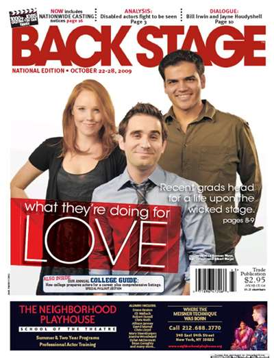 Back Stage National Magazine Subscription