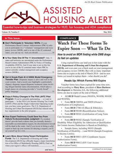 Assisted Housing Alert Magazine Subscription Canada