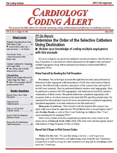 Cardiology Coding Alert Magazine Subscription Canada