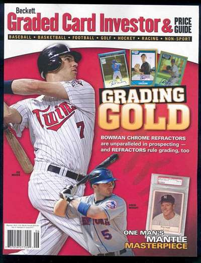 Beckett Graded Card Investor & Price Guide Magazine Subscription