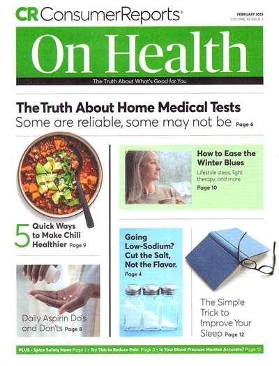 Consumer Reports On Health Magazine Subscription