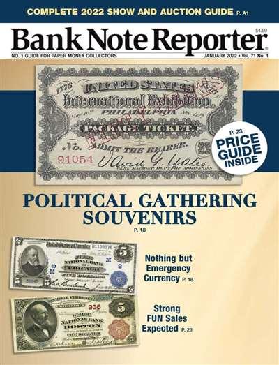 Banknote Reporter Magazine Subscription Canada