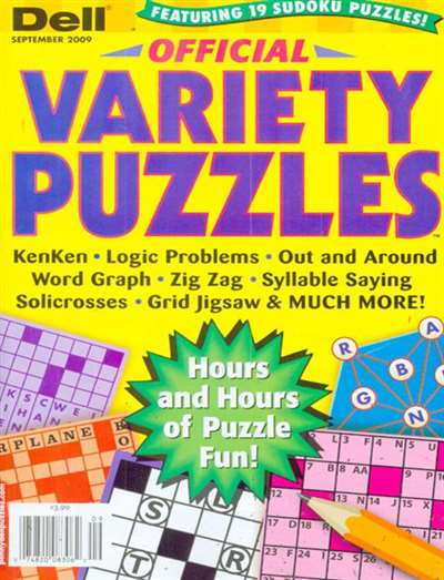 Dell Official Variety Puzzle Magazine Subscription Canada