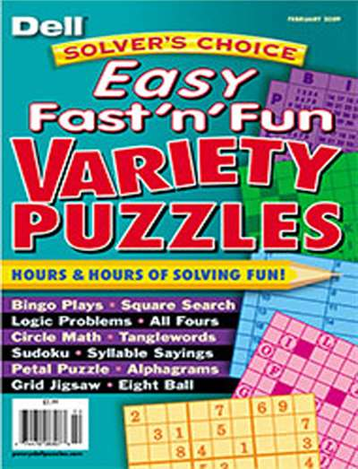 Solver's Choice Easy Fast N' Fun Variety Puzzles Magazine Subscription