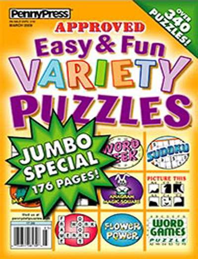 Approved Easy/Fun Variety Puzzles Magazine Subscription