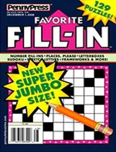 Favorite Fill In Magazine Subscription