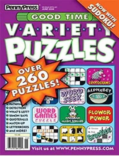 Good Time Variety Puzzles Magazine Subscription Canada