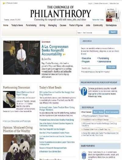 Chronicle Of Philanthropy Magazine Subscription