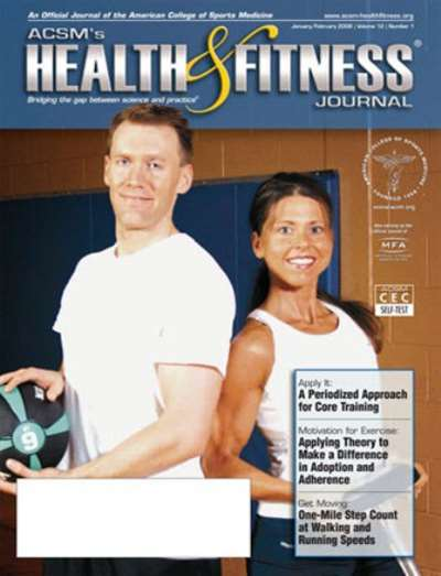 Acsm's Health & Fitness Journal Magazine Subscription Canada