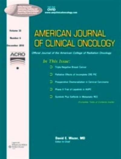 American Journal Of Clinical Oncology: Cancer Clinical Trials Magazine Subscription Canada