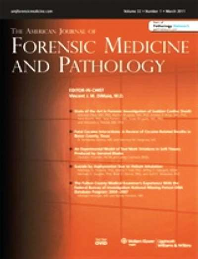 American Journal Of Forensic Medicine & Pathology Magazine Subscription Canada