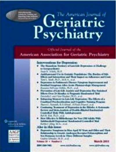 American Journal Of Geriatric Psychiatry Magazine Subscription