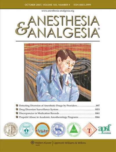 Anesthesia & Analgesia Magazine Subscription Canada