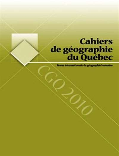 Cahiers De Geographie Du Quebec Magazine Subscription Canada