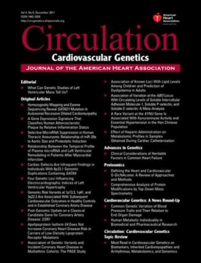 Circulation: Cardiovascular Genetics Magazine Subscription